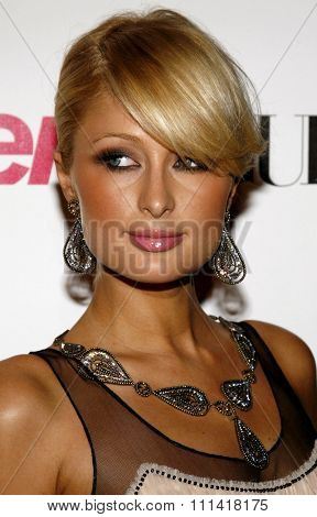 Paris Hilton attends the Teen Vogue Young Hollywood Party held at the Sunset Tower Hotel in Hollywood, California on September 21, 2006.