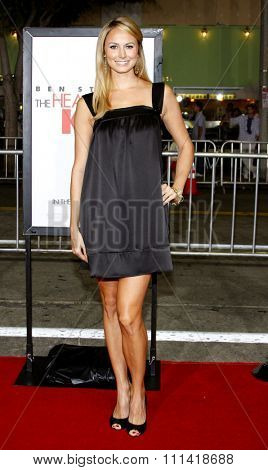 Stacy Keibler attends the Los Angeles Premiere of