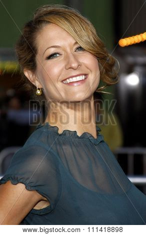 Ali Hillis attends the Los Angeles Premiere of