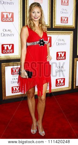 Stacy Keibler attends the 5th Annual TV Guide's Emmy Awards Afterparty held at the Les Deux in Hollywood, California, United States on September 16, 2007.