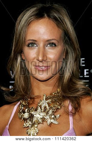 Lady Victoria Hervey attends the Rodeo Drive Walk Of Style Award honoring Gianni and Donatella Versace held at the Beverly Hills City Hall in Beverly Hills, California on February 8, 2007.