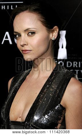 Christina Ricci attends the Rodeo Drive Walk Of Style Award honoring Gianni and Donatella Versace held at the Beverly Hills City Hall in Beverly Hills, California on February 8, 2007.