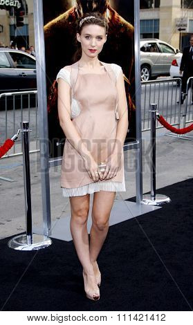 HOLLYWOOD, USA - APRIL 27: Rooney Mara at the Los Angeles Premiere of