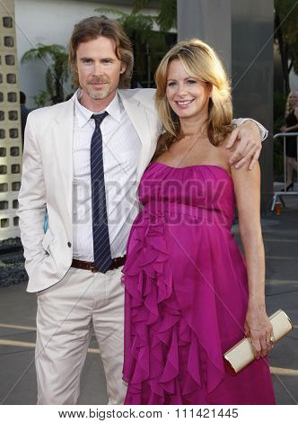 LOS ANGELES, USA - JUNE 21: Sam Trammell and Missy Yager at the Premiere Of HBO's