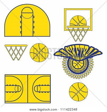 Basketball Game Objects Icons