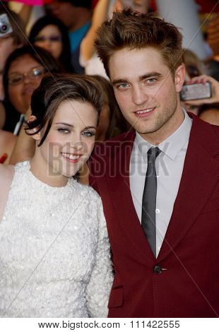 LOS ANGELES, USA - JUNE 24: Kristen Stewart and Robert Pattinson at the Los Angeles Premiere of