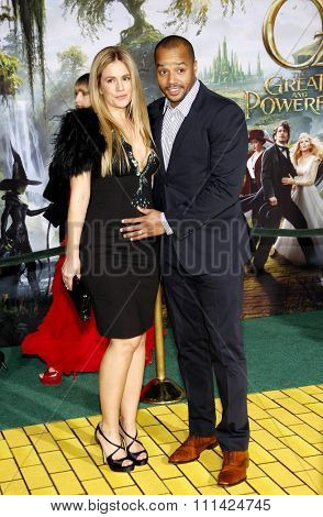Cacee Cobb and Donald Faison at the Los Angeles Premiere of