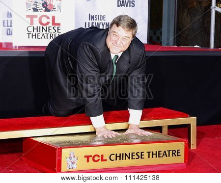 John Goodman at the John Goodman Handprint and Footprint Ceremony held at the TCL Chinese Theatre in Los Angeles on November 14, 2013 in Los Angeles, California.