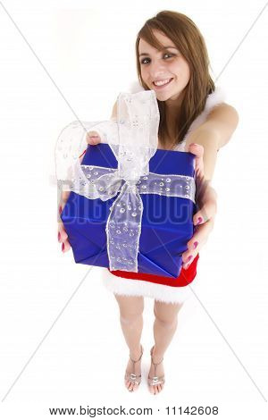 Woman Giving Present