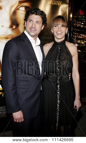 January 4, 2007. Patrick Dempsey and Hilary Swank attends the Los Angeles of