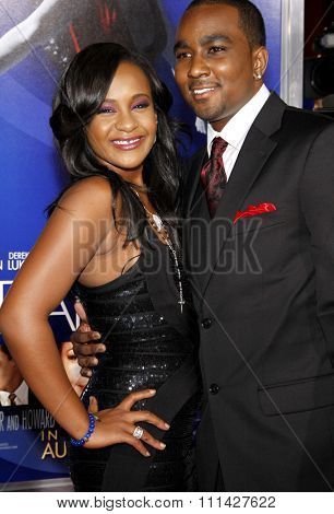 Bobbi Kristina Brown and Nick Gordon at the Los Angeles premiere of