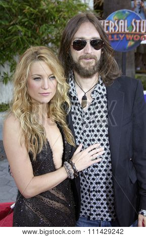 August 2, 2005. Kate Hudson and husband Chris Robinson at the