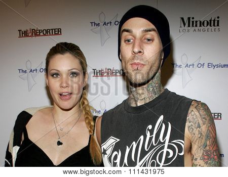 November 30, 2005 - West Hollywood - Travis Barker and Shanna Moakler at The Art of Elysium at the Minotti Los Angeles in West Hollywood, California United States.