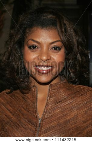 December 1, 2005. Taraji Henson attends the Wolrd Premiere of Aeon Flux at the Cinerama Dome in Hollywood, California United States.