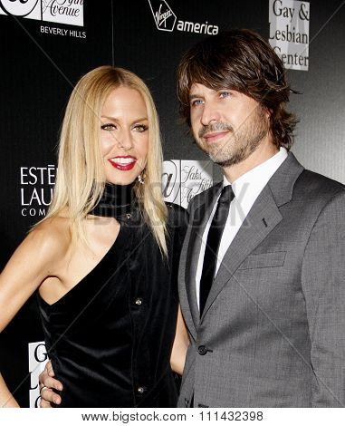 Rachel Zoe and Rodger Berman at the Los Angeles Gay & Lesbian Center Honors Rachel Zoe held at the Sunset Tower Hotel, California, United States on January 23, 2012.