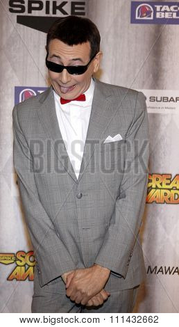 Paul Reubens aka 'Pee-wee Herman'  at the Spike TV's 'SCREAM 2011' awards held at Universal Studios in Universal City, California on October 15, 2011.