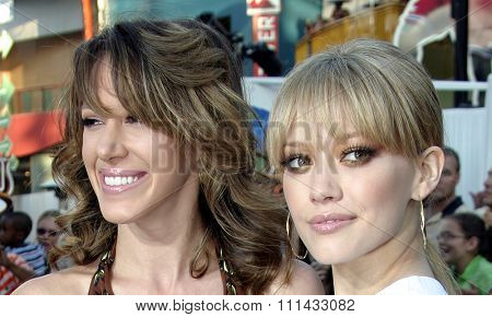 June 13 2005. Haylie Duff and Hilary Duff attend at the