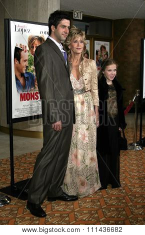 WESTWOOD. CALIFORNIA. April 29, 2005. Jane Fonda and son Troy attend at the Los Angeles Premiere of