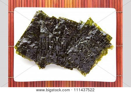 Nori The Japanese name for edible seaweed food product