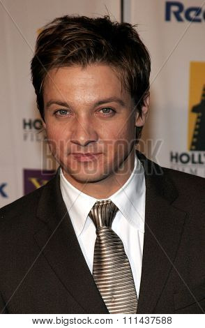 Jeremy Renner at the 9th Annual Hollywood Film Festival Awards Gala Ceremony held at the Beverly Hilton Hotel in Beverly Hills, California United States on October 24, 2005.