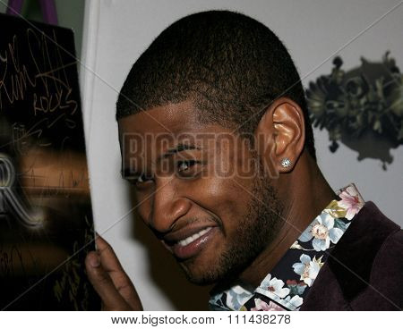 10/17/2005. Usher attends the Usher Host Truth Tour DVD Launch Party at the Hollywood Roosevelt Hotel in Hollywood, CA, USA.
