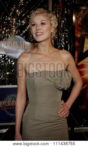 October 17, 2005. Rosamund Pike at the Los Angeles Premiere of