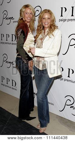November 17, 2005 - Beverly Hills - Lisa Amore and Paige Adams-Geller at the Paige Premium Denim Party at the Paige Premium Denim Flagship Store in Beverly Hills, California United States.