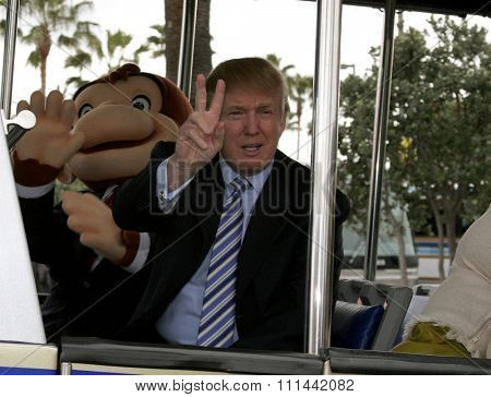 HOLLYWOOD, CALIFORNIA. March 10, 2006. Donald Trump kicks off the sixth season casting call search for THE APPRENTICE held at the Universal Studios in Hollywood, California United States.