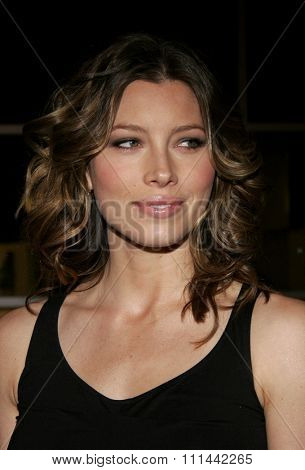 Jessica Biel attends the Los Angeles Premiere of