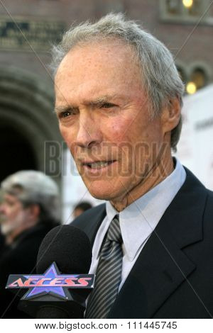 Clint Eastwood at the 75th Diamond Jubilee Celebration for the USC School of Cinema-Television held at the USC's Bovard Auditorium in Los Angeles, United States on September 26 2004.