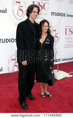 Jay Roach and Susanna Hoffs at the 75th Diamond Jubilee Celebration for the USC School of Cinema-Television held at the USC's Bovard Auditorium in Los Angeles, United States on September 26 2004.