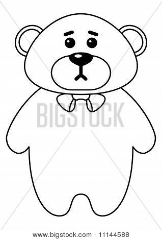 Teddy bear a tilde, contours