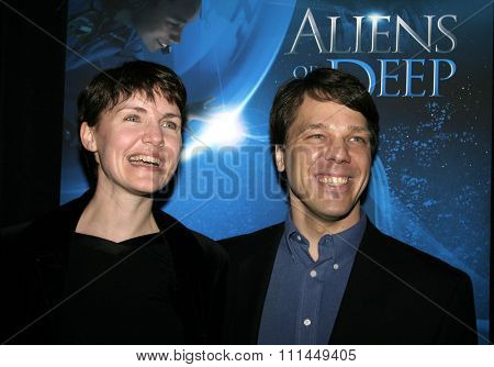 20 January 2005 - Hollywood, California - Dr. Maya Tolstoy and Steven Quale, co-director. World Premiere of 'Aliens of the Deep' at Universal Citywalk Imax Theatre in Hollywood.