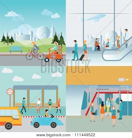 Info Graphic Of Transportation.