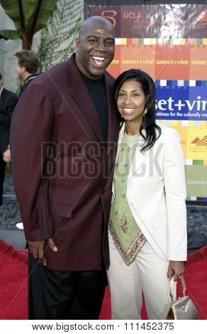 Earvin 'Magic' Johnson and wife Cookie at the Los Angeles premiere of