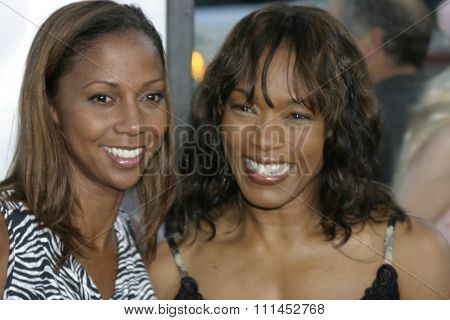 Angela Bassett and Holly Robinson Peete at the Los Angeles premiere of