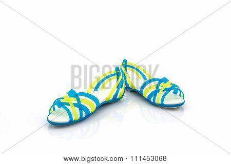 Colorful Of Sandals Shoes / Flip Flops.