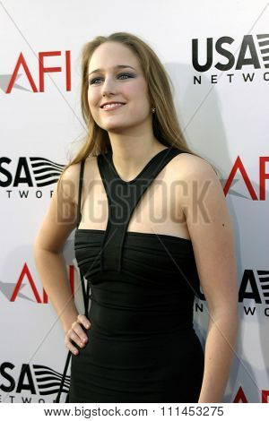 10 June 2004 - Hollywood, USA - Leelee Sobieski. 32nd AFI Life Achievement Award: A Tribute to Meryl Streep at the Kodak Theatre, Hollywood & Highland.