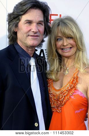10 June 2004 - Hollywood, USA - Kurt Russell and Goldie Hawn. 32nd AFI Life Achievement Award: A Tribute to Meryl Streep at the Kodak Theatre, Hollywood & Highland.