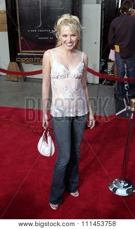 Adrienne Frantz at the Los Angeles premiere of