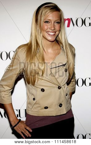 Katie Cassidy attends the Teen Vogue Young Hollywood Party held at the Sunset Tower Hotel in Hollywood, California on September 21, 2006.