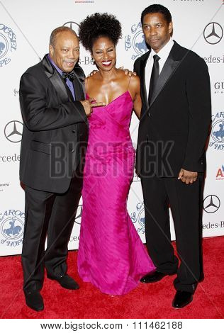 Quincy Jones and Denzel Washington at the 30th Carousel of Hope Ball held at the Beverly Hilton Hotel in Beverly Hills, California, United States on October 25, 2008.