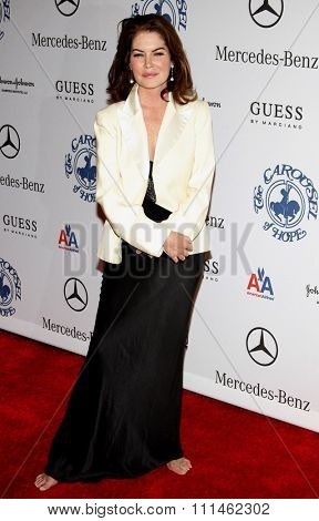 Lara Flynn Boyle at the 30th Anniversary Carousel Of Hope Ball held at the Beverly Hilton Hotel in Beverly Hills, California, United States on October 25, 2008.