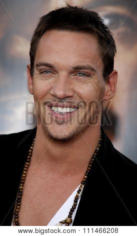 Jonathan Rhys Meyers at the Los Angeles premiere of 'The Soloist' held at the Paramount Studios Theatre in Hollywood on April 20, 2009.