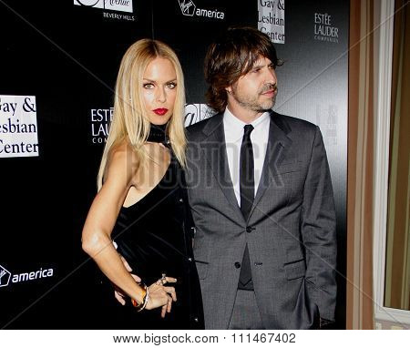 Rachel Zoe and Rodger Berman at the Los Angeles Gay And Lesbian Center Homeless Youth Services Benefit held at the Sunset Tower in West Hollywood on January 23, 2012.