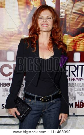 Lolita Davidovich at the HBO's 'Cinema Verite' Los Angeles Premiere held at the Paramount Studios Lot in Hollywood on April 11, 2011.