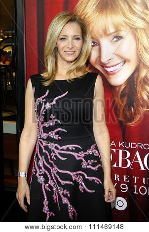 Lisa Kudrow at the Los Angeles premiere of HBO's 'The Comeback' held at the El Capitan Theatre in Los Angeles on November 5, 2014.