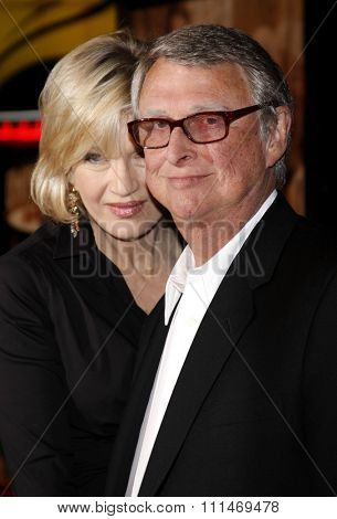 Mike Nichols and Diane Sawyer at the Los Angeles premiere of 'Charlie Wilson's War' held at the CityWalk Cinemas in Universal City on December 10, 2007.