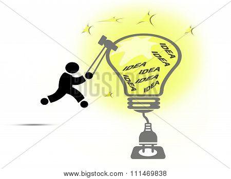 Creative Light Bulb Ideas Concept