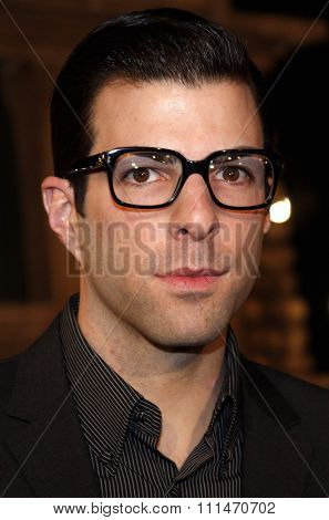 Zachary Quinto attends the Los Angeles Premiere of